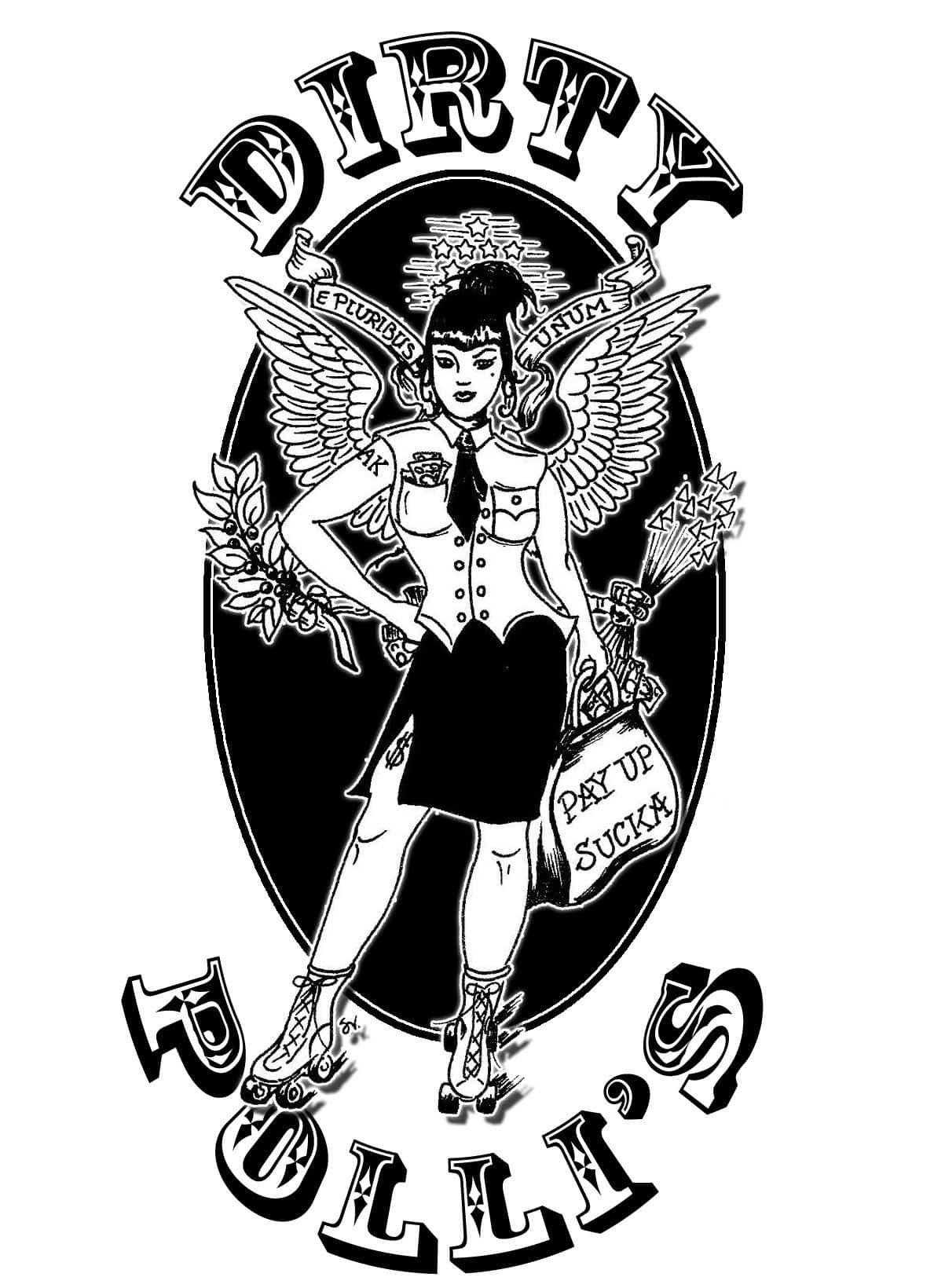 One of the amazing rollergirls drew the rollergril & I made it into a team logo.