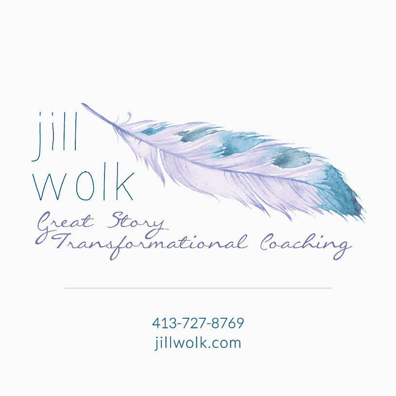 Front of Jill's new business cards.