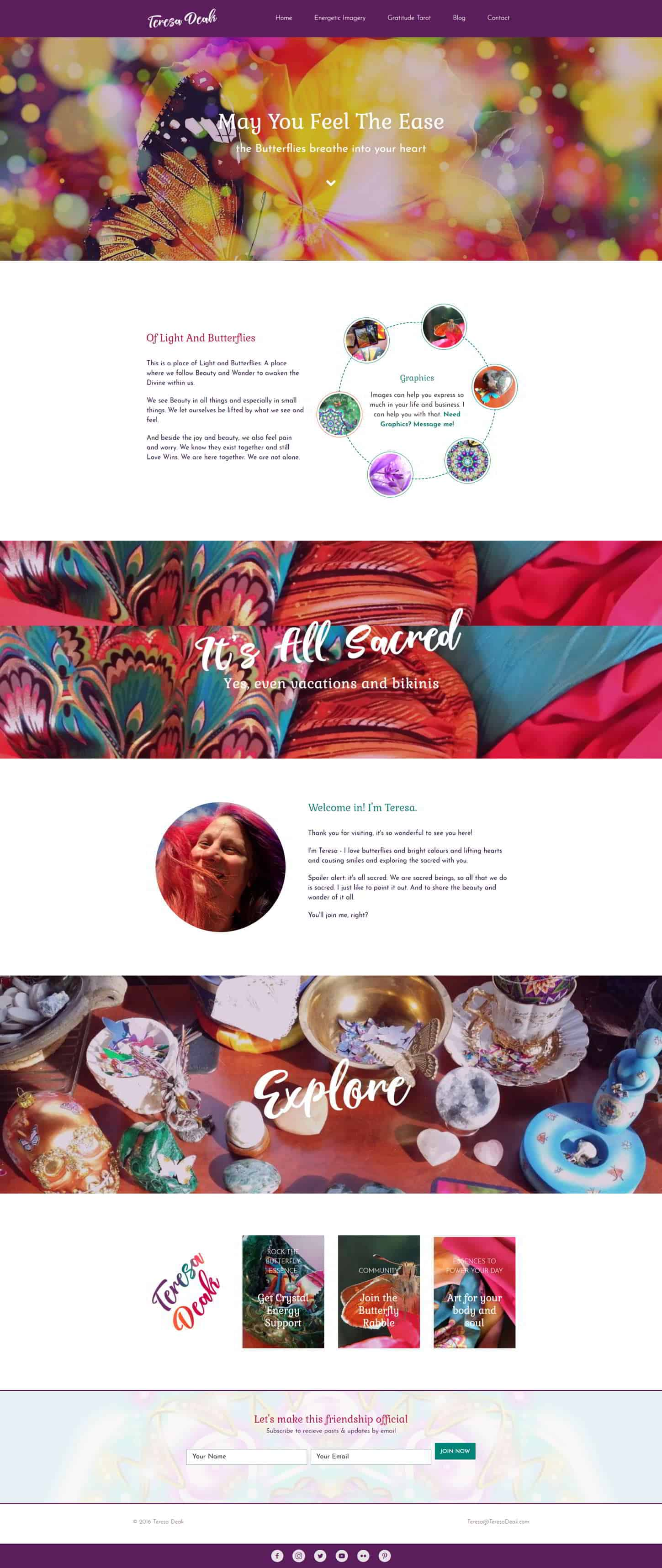 Desktop Preeview of Teresa Deak Website